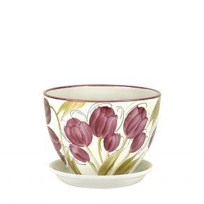 горшок венеция Тюльпаны 13см (РС340/1)