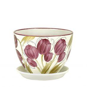 горшок венеция Тюльпаны 16см (РС340/2)