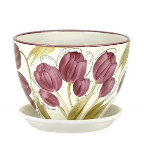 горшок венеция Тюльпаны 19см (РС340/3)