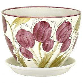 горшок венеция Тюльпаны 22см (РС340/4)