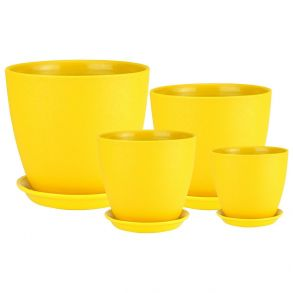 Бутон ВИНИЛ желтый кмпт из 4-х (ВН 06)
