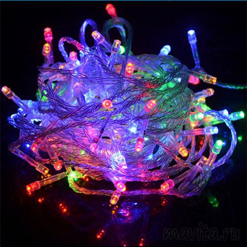 Светодиодная гирлянда 400 LED 19м. Цвет Разноцветный