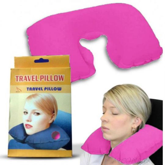 Подушка для путешествий Travel Pillow (Тревел Пиллоу), Цвет: Розовый
