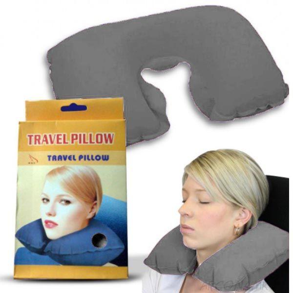 Подушка для путешествий Travel Pillow (Тревел Пиллоу), Цвет: Серый