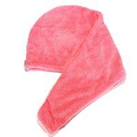 Махровое Полотенце-Тюрбан Для Сушки Волос, Цвет Розовый (2)