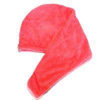 Махровое Полотенце-Тюрбан Для Сушки Волос, Цвет Темно-Розовый (2)