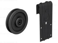 Комплект фурнитуры ROC DESIGN Ymir на 1 дверь с направляющей 2000 мм. черный матовый