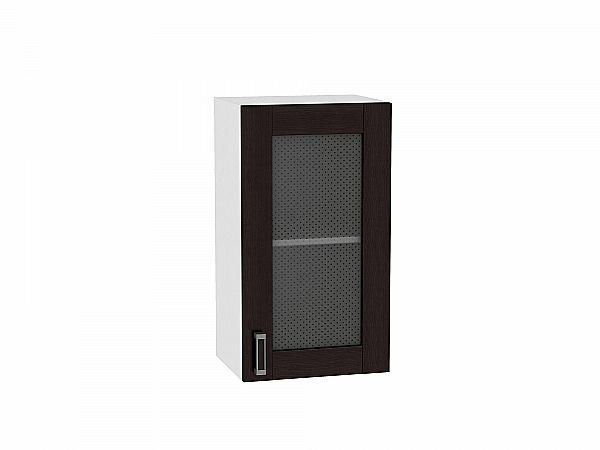Шкаф верхний Лофт В409 со стеклом (Wenge Veralinga)