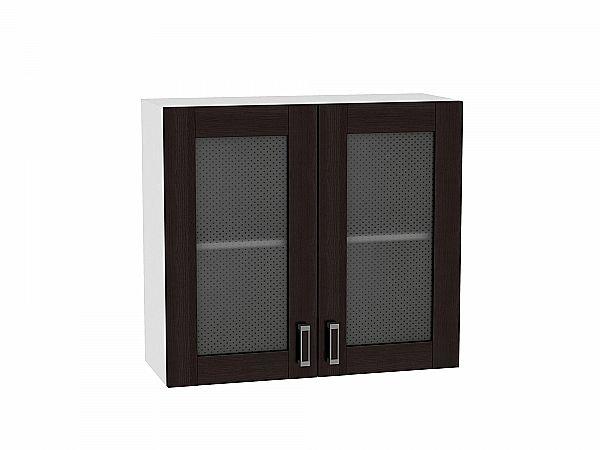Шкаф верхний Лофт В809 со стеклом (Wenge Veralinga)