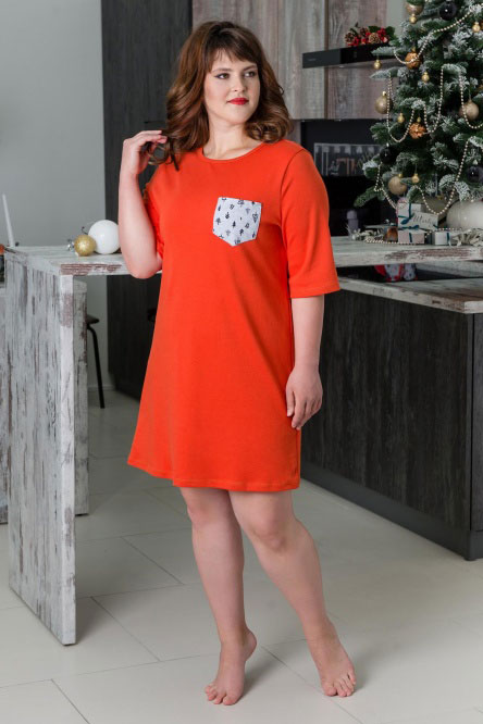 Туника арт.0773 оранжевая, интерлок