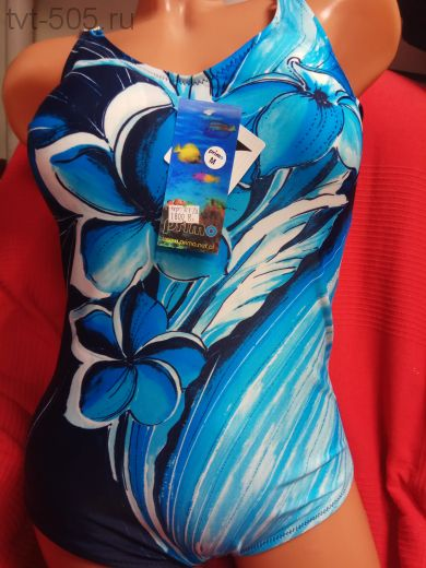Купальник Primo  т.синий-голубой