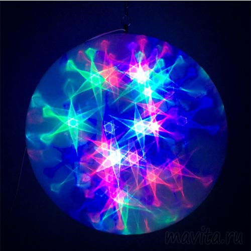 Эксклюзивный шар с LED светодиодами Ceiling Colourful Star Light, 15 см