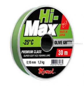 Леска монофильная Momoi Hi-Max Olive Green  30 м / цвет: зеленая