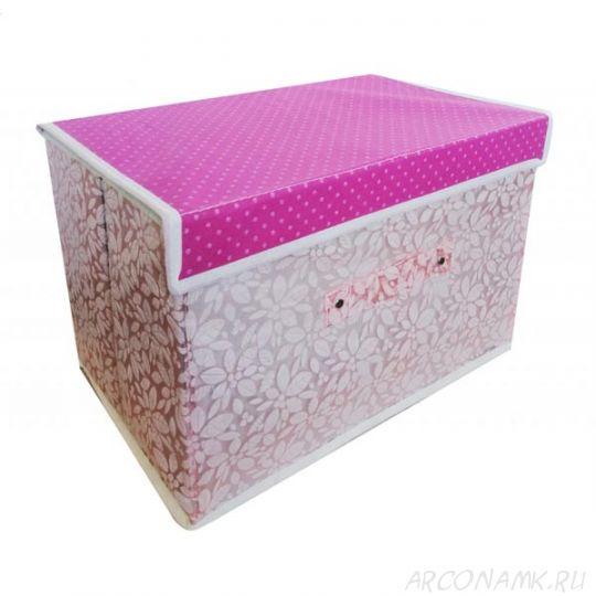 Складной короб для хранения вещей, 36х24х24 см., Цвет: Светло-розовый