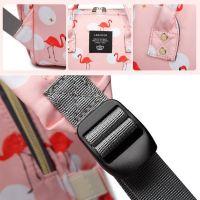 Сумка-рюкзак для мамы Mummy Bag Фламинго (3)