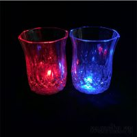 Мерцающая рюмка Light-up Liquid Activated Glass, 70 мл, 6 шт