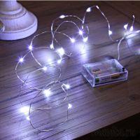 Светодиодная гирлянда на батарейках Нить 30 led огней, 3 м, Цвет Белый