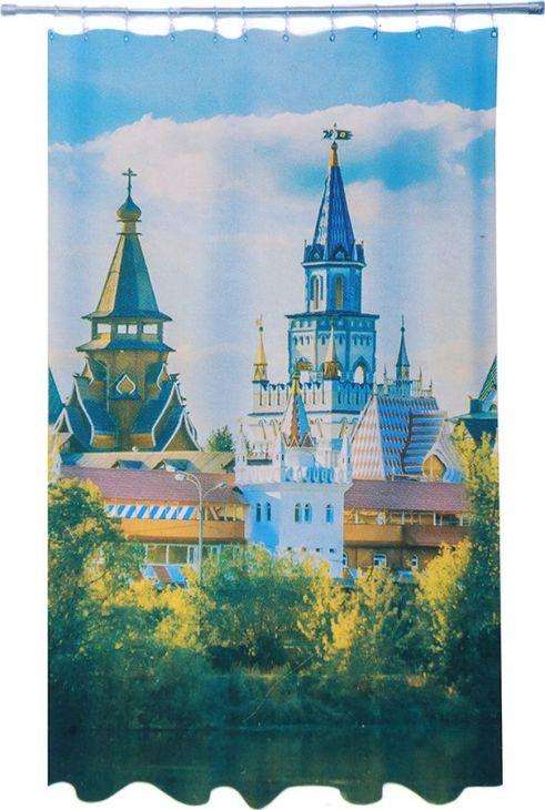 Штора для ванной 180х180 Vetta Кремль 461-478
