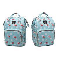 Сумка-рюкзак для мамы Mummy Bag Фламинго, Цвет Голубой (2)
