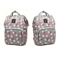 Сумка-рюкзак для мамы Mummy Bag Фламинго, Цвет Серый (2)