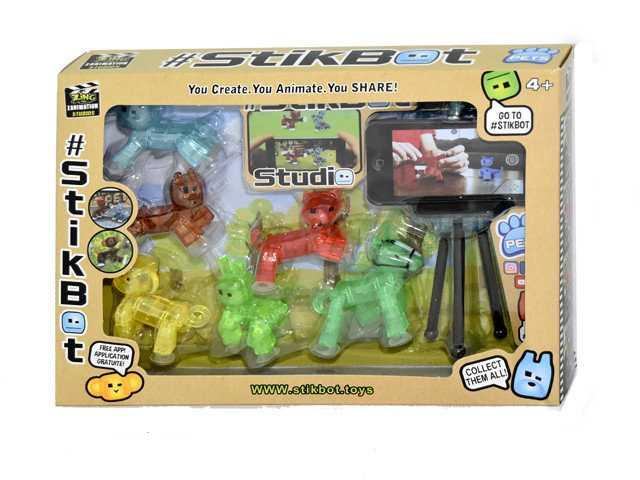 Набор Стикбот животные Stikbot Pets 6 штук со штативом