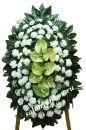 Элитный траурный венок из живых цветов №112, РАЗМЕР 100см,120см,140см,170см