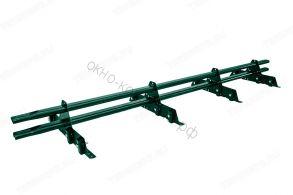 Снегозадержатель трубчатый плоскоовальный New Line 20х40 мм, L-3 м, 4 опоры для металлочерепицы.RAL 8017 (коричневый) RAL 6005 (Зеленый) RAL 3005 (Красное вино) RAL 7004 (Серый)