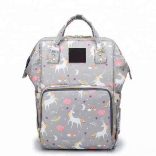 Сумка-рюкзак для мамы Единорог, Цвет: Серый