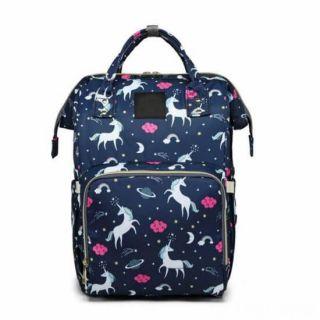 Сумка-рюкзак для мамы Единорог, Цвет: Синий