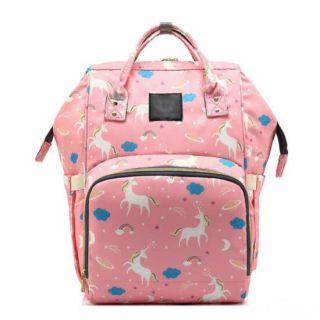 Сумка-рюкзак для мамы Единорог, Цвет: Розовый