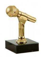 Приз статуэтка Музыка микрофон певец на подставке
