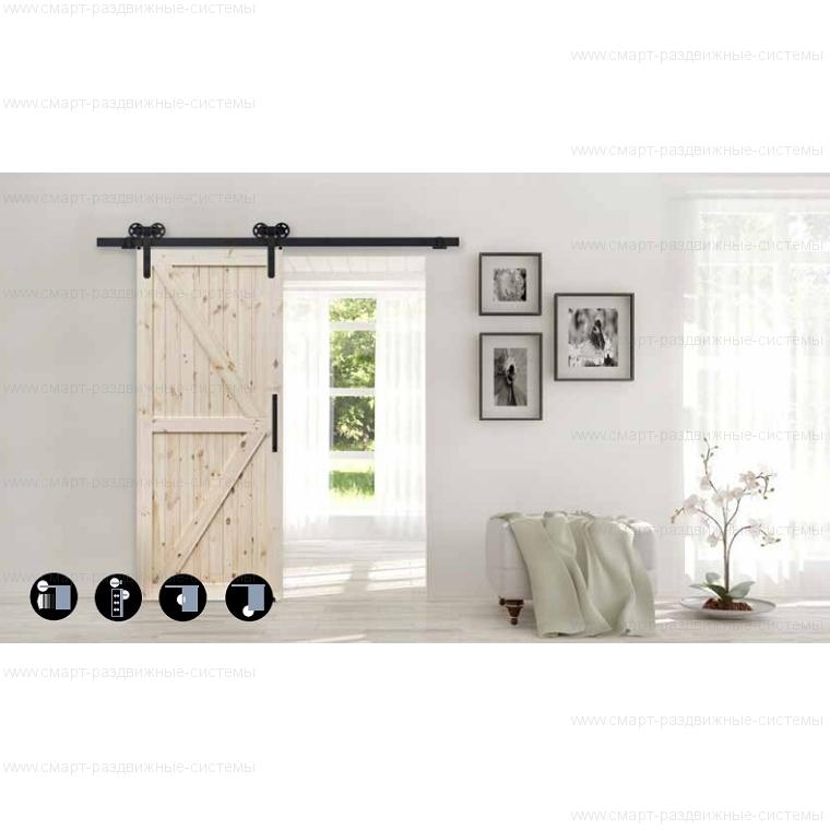 Комплект фурнитуры Roc Design LOKI на 1 дверь без направляющей