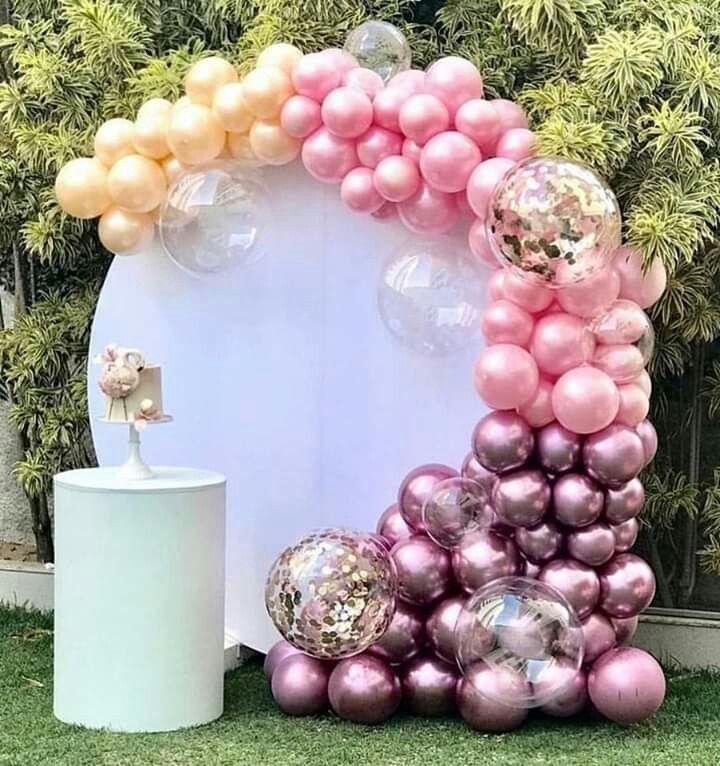 Фотозона из разнокалиберных шаров