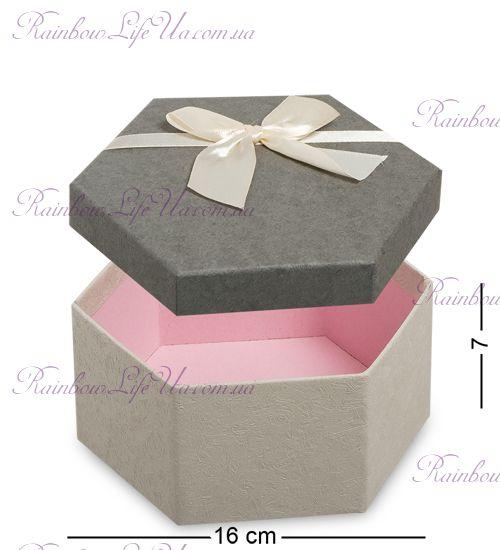 """Коробка подарочная матрешка 3 шт. """"Шестигранник"""""""