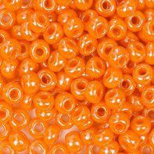 Бисер чешский 98110 непрозрачный оранжевый блестящий Preciosa 1 сорт