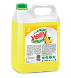 Средство для мытья посуды Velly лимон канистра 5 кг-купить в Челябинске | Моющие средства для посуды цена