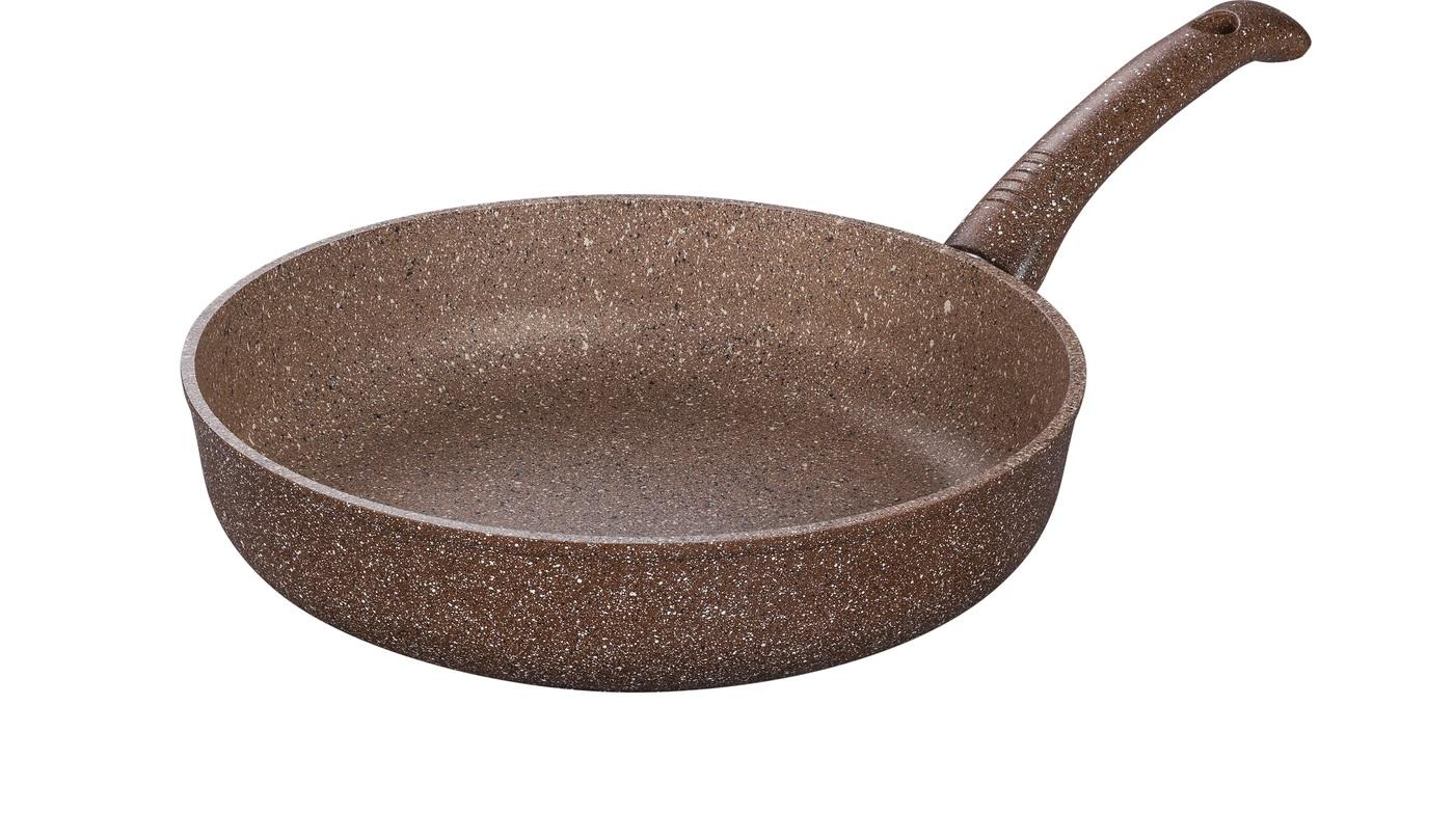 Сковорода глубокая 26 см ГРАНИТ (браун-браун) без крышки (10) DECO-DARIIS HUR-A-110 ВВ