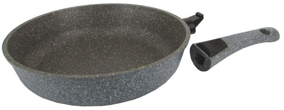 Сковорода глубокая 26см МРАМОР  антипригарное покрытие, съемная ручка, без крышки (10) DECO-DARIIS HUR-A-110 DMВ