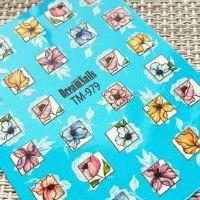 Слайдер-дизайн «Цветы» TM - 979 Dream Nails (водные наклейки)