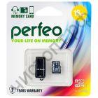 Карта памяти micro SDHC 16GB Perfeo Сlass 10 UHS-I с USB microSD Reader BL-1