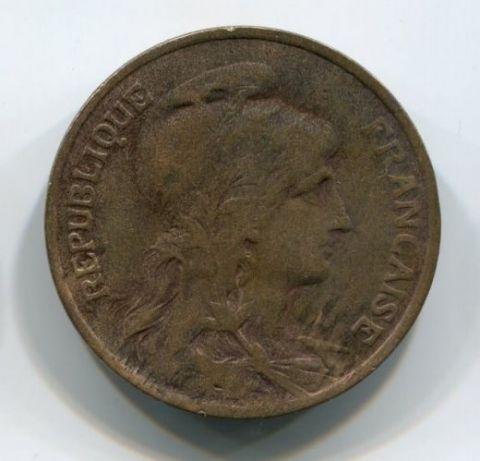 10 сантимов 1911 года Франция
