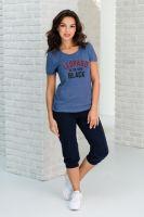 Костюм женский арт.0583 (футболка+бриджи)