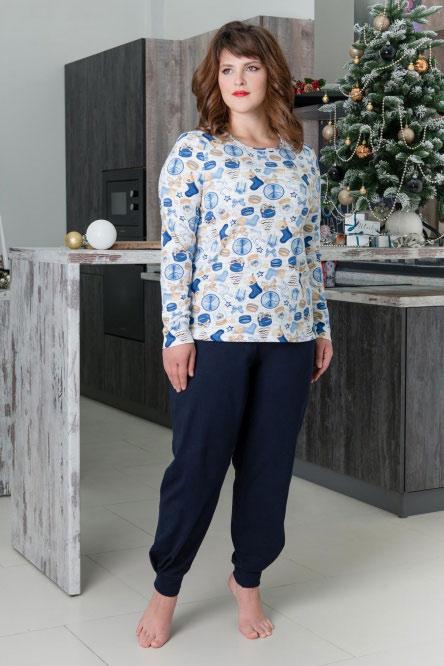 Костюм арт.0748-16 голубой (блуза+брюки)