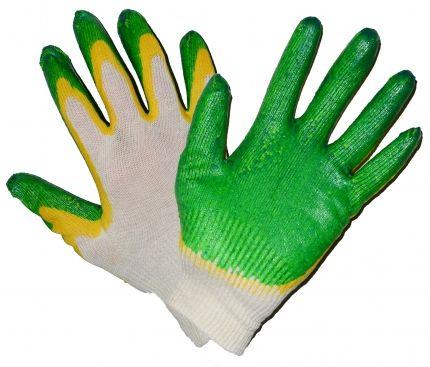Перчатки Х/Б латексные 2-й облив