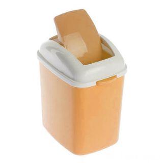 Настольный мусорный контейнер,13х11х23 см, Бежевый