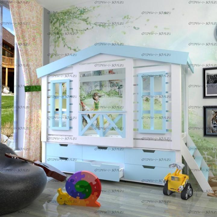 Кровать-чердак Домик Factory №17