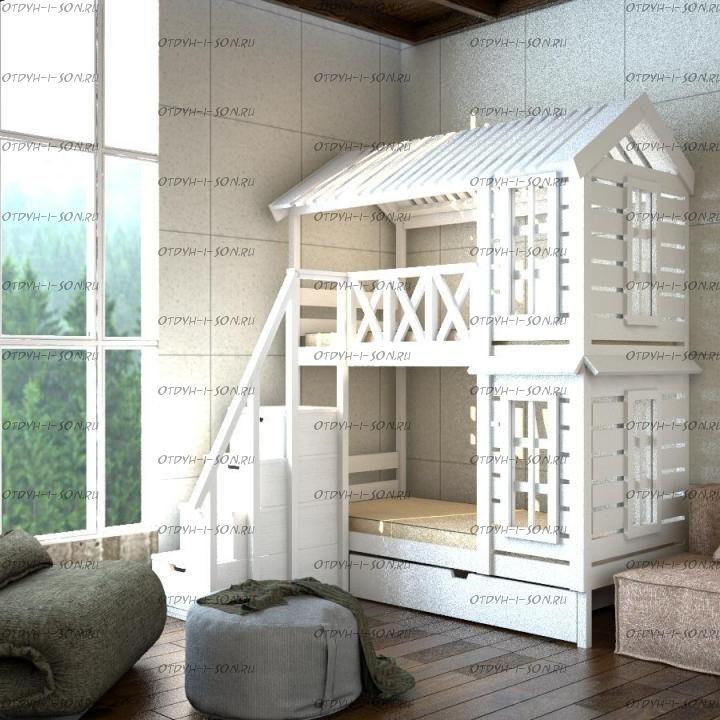 Кровать двухъярусная Домик Felicia №2+
