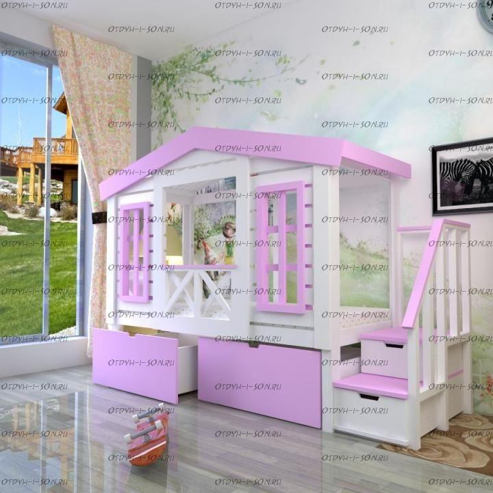 Кровать-чердак Домик Factory №25