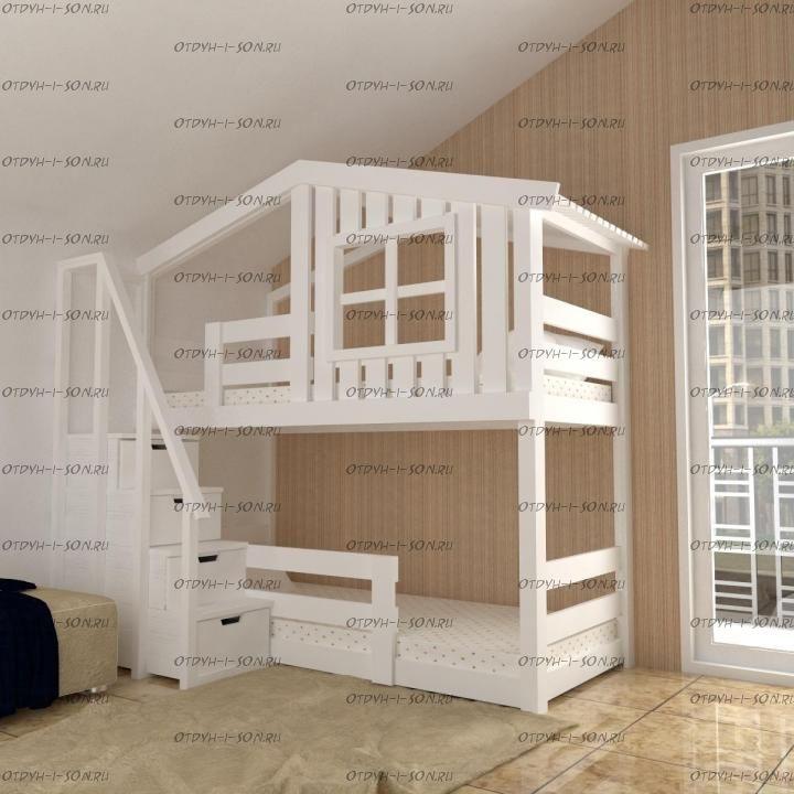 Кровать двухъярусная Домик Roof №26