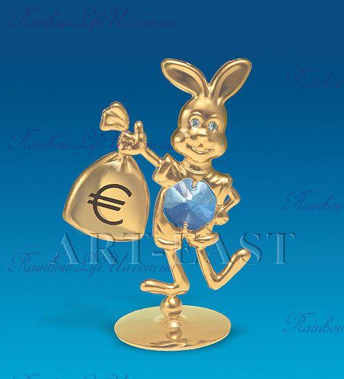 "Фигурка заяц с денежным мешком ""Swarovski"""